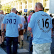 Manchester City fans - Stock Photo