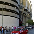 Fans near the Santiago Bernabeu stadium — Stock Photo