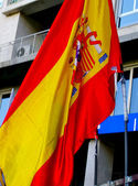 Spanish national flag — Stock Photo