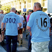 Manchester city fans — Stockfoto