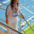 Girl in Real Madrid shirt  — Stock Photo