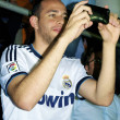 Happy fan of Real Madrid - Stock Photo