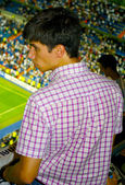 Tense fan of Real Madrid — Stockfoto
