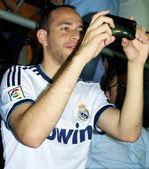 Happy fan of Real Madrid — Stock Photo