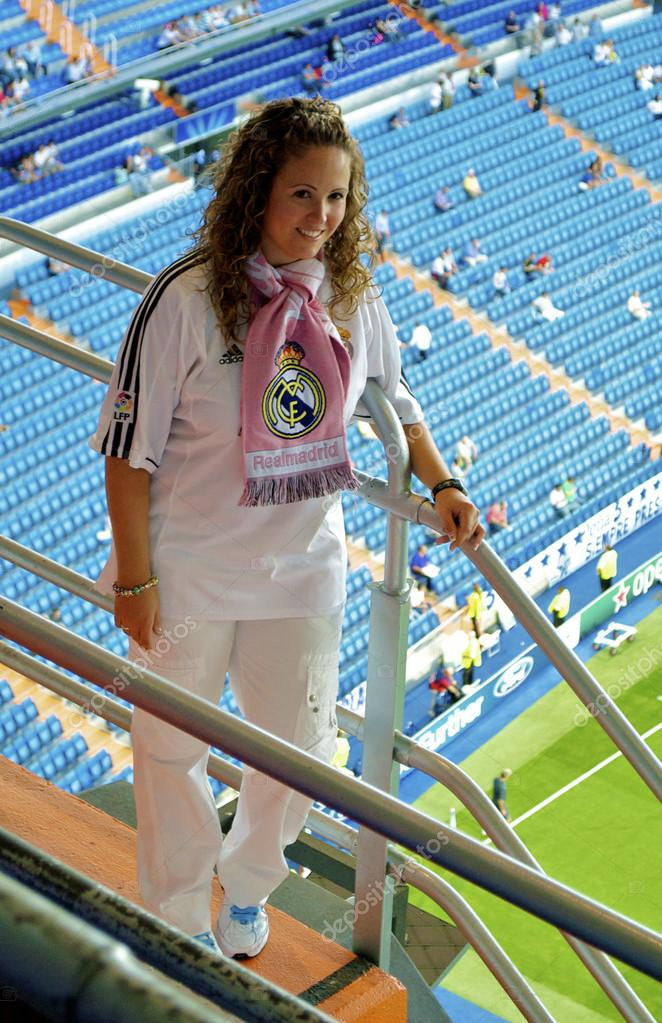 Girl in Real Madrid shirt � Stock Editorial Photo � Siempreverde ...