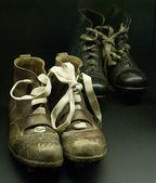 Stivali storici di giocatori reali di madrid — Foto Stock