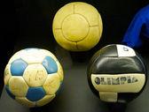 Historiska fotbollar — Stockfoto