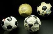 Tarihsel futbol topları — Stok fotoğraf