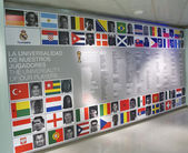 Wall of international players of Real madrid — Stock Photo