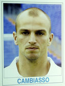 Esteban cambiasso am ersten tag in real madrid — Stockfoto