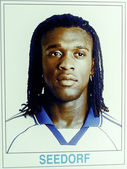 Clarence Seedorf on the first day in Real Madrid — Stock Photo