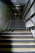 Stairs to the Real Madrid changing room — Stock Photo