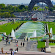 Stock Photo: Trocadero Fountain, near Eiffel Tower