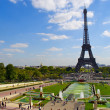 Stock Photo: View of Trocadero near Eiffel Tower