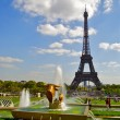 Stock Photo: Trocadero fountain and Eiffel Tower