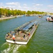 Cruise boat over the Seine — Stock Photo #13236506