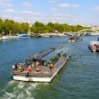 Cruise boat over the Seine — Stock Photo #13236542