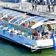 Stock Photo: Cruise boat over Seine