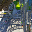 View on the toursits from th Eiffel tower - ストック写真