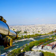 Telescope over Paris, France — Stock Photo