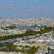 Panoramic view of the River Seine, Paris, France — Stockfoto