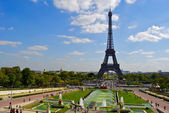 Trocadero, Paris, near the Eiffel Tower — Stock Photo