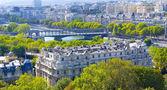 Building in Paris and river Seine — Stock Photo