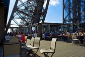 Restaurant on the first floor of the Eiffel tower — Stock Photo