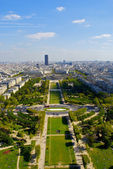 View from the second floor of the Eiffel tower — Stock Photo