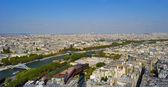 Río sena desde el segundo piso de la torre eiffel — Foto de Stock