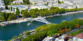 Panoramic view of the River Seine, Paris, France — Stock Photo