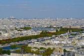 Panoramatický výhled na řeku seinu, paříž, francie — Stock fotografie