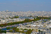 Panoramautsikt över floden seine, paris, frankrike — Stockfoto