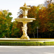 Fountain in the Retiro park - Stock Photo