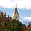 Church near the Retiro park - Stock Photo