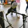 Stock Photo: Microphone waits for singer
