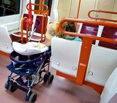 Carrinho de bebê no metro — Foto Stock
