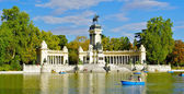 Monument to Alonso XII, Buen Retiro park, Madrid, Spain — Stock Photo
