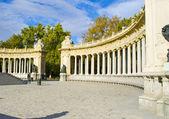 Square in the Retiro park, Madrid — Stock Photo