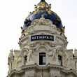 Hotel Metropolis, Madrid, Spain — Stock Photo