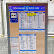 Stock Photo: Bus schedule