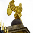Royalty-Free Stock Photo: Golden Eagle on the gate of View of the Palace of Fontainebleau