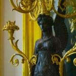 CASTLE FONTAINEBLEAU, ÎLE-DE-FRANCE, FRANCE: Image is taken inside of the Palace of Fontainebleau — Stock Photo