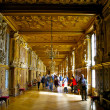 CASTLE FONTAINEBLEAU, ÎLE-DE-FRANCE, FRANCE: Image is taken inside of the Palace of Fontainebleau - ストック写真