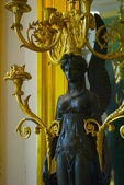 CASTLE FONTAINEBLEAU, ÎLE-DE-FRANCE, FRANCE: Image is taken inside of the Palace of Fontainebleau — 图库照片