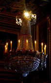 Candle lamp in the castle Fontainebleau,France — Stock Photo