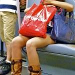Girl in metro — Stock Photo