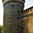 Part of the Sforza Castle, Milan, Italy - Stock Photo