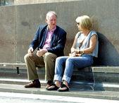 Parlare di uomo e donna — Foto Stock