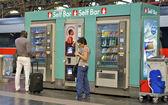 Self bar at the Milan central station — Stock Photo